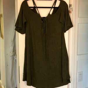 Audrey 3+1 T-shirt dress with tie up front